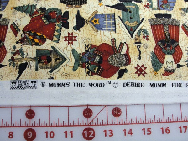 Debbie Mumm Santa and Birdhouse fabric yardage - Fabric - Craft Supply House