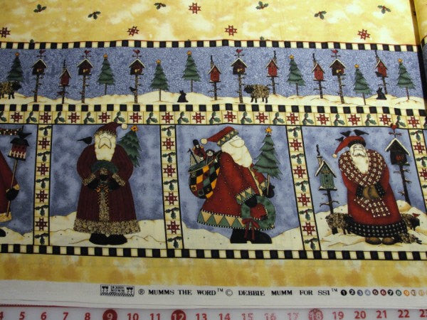 Debbie Mumm Santa border print fabric yardage - Fabric - Craft Supply House