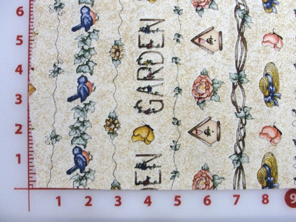 Dianna Marcum garden theme cotton fabric tan speckles - Fabric - Craft Supply House