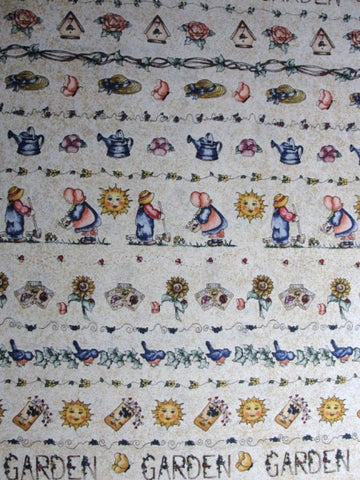 Dianna Marcum garden theme cotton fabric tan speckles