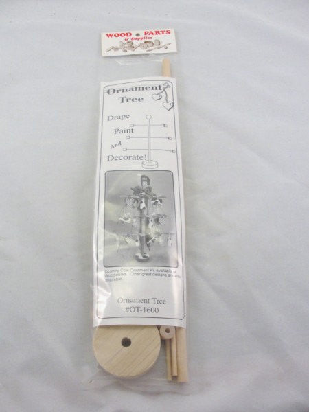 Ornament tree kit DIY unfinished wood parts - Wood parts - Craft Supply House