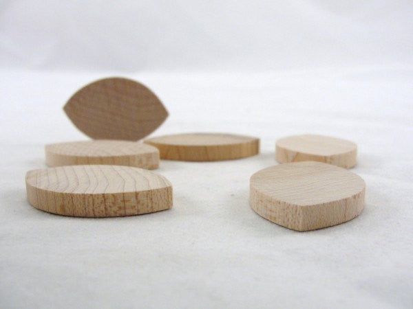 Wooden football unfinished DIY set of 6