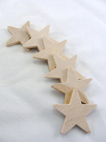 "Traditional 2 1/4"" wooden star cutout - wood parts - craft supply house"