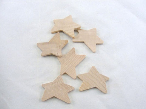 "2"" Primitive wooden star, 3/16"" thick, unfinished DIY set of 6"