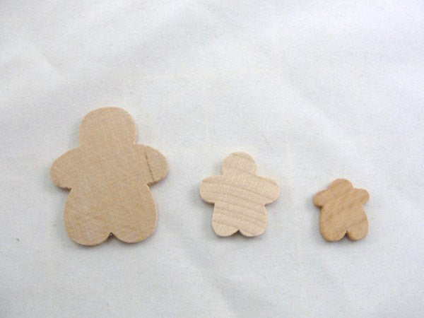 Gingerbread Boy Man wood unfinished DIY set of 6 smallest of 3 sizes - Wood parts - Craft Supply House