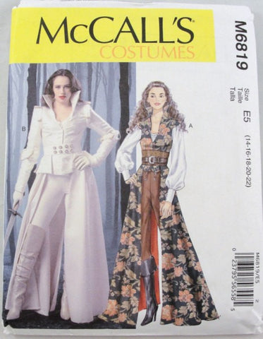 Coat top corset belt Steampunk Adult Costume pattern McCalls 6819 size 14-22 - Patterns - Craft Supply House