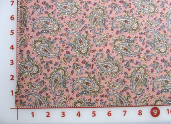 Mauve Paisley fabric yardage - Fabric - Craft Supply House