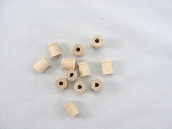 Small wooden spools 3/4 inch set of 12 - Wood parts - Craft Supply House