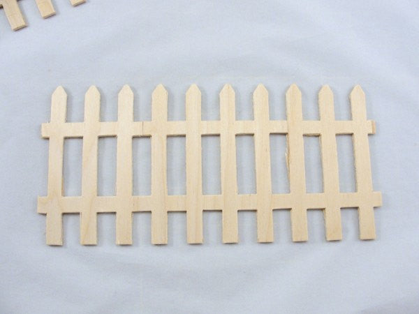 Wooden fence part set of 5 - Wood parts - Craft Supply House