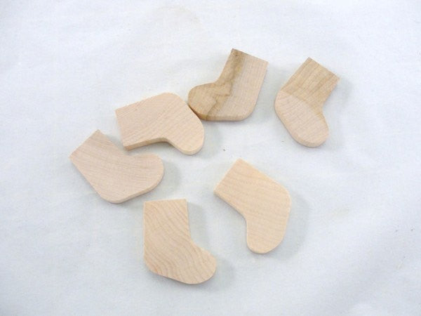 Stocking wood cutout set of 6 - Wood parts - Craft Supply House