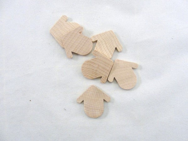 Miniature thin wooden Robin birdhouse set of 6 - Wood parts - Craft Supply House