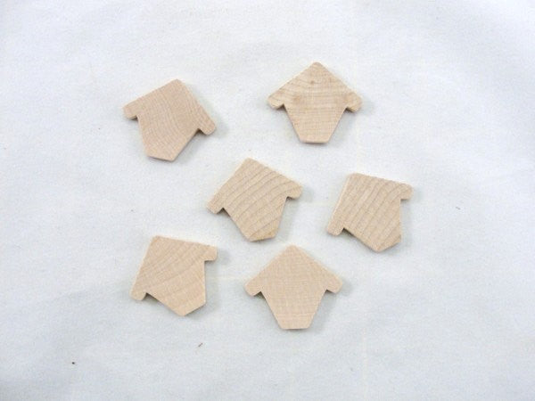 Miniature thin wooden birdhouse Chickadee house set of 6 - Wood parts - Craft Supply House