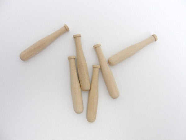 "Miniature 2"" baseball bat set of 12 - Wood parts - Craft Supply House"