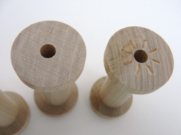 "Wooden spool 2.75"" tall set of 4 - Wood parts - Craft Supply House"