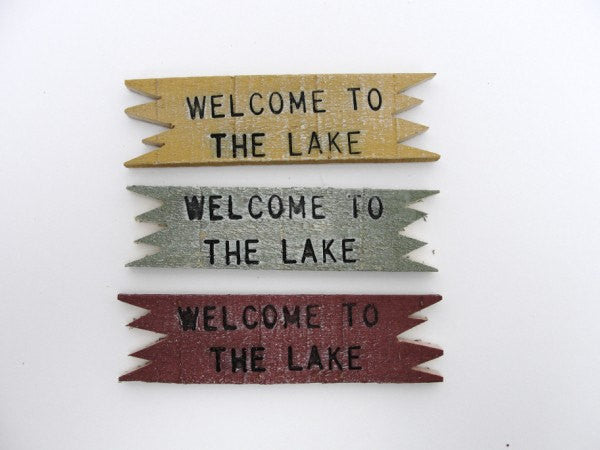 Welcome to the Lake sign - General Crafts - Craft Supply House
