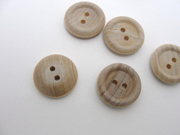 "Wooden buttons 3/4"" unfinished choose your quantity - Wood parts - Craft Supply House"