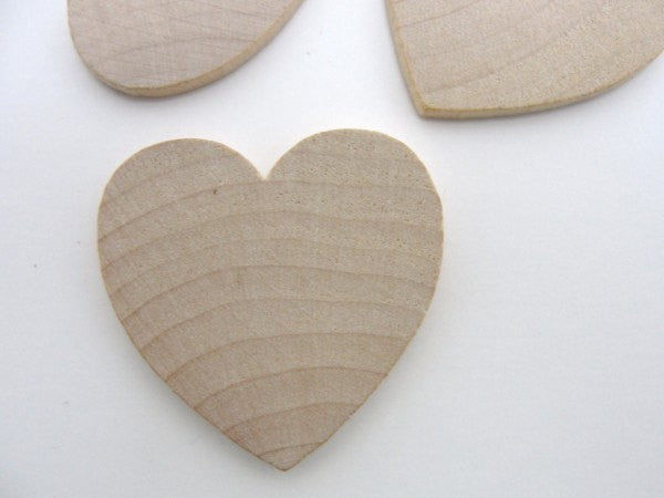 "Wooden hearts 1 1/2 inch (1.5"") wide 1/8 inch thick unfinished wood hearts diy - Wood parts - Craft Supply House"