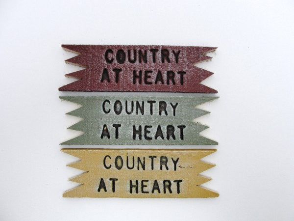 Country at Heart sign - General Crafts - Craft Supply House