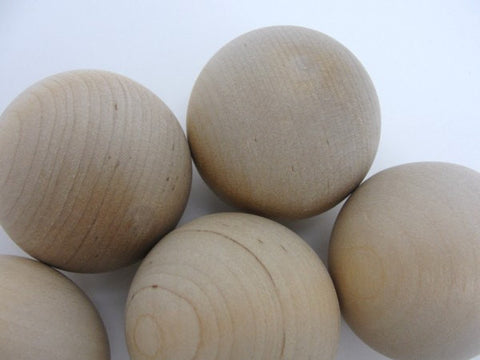 "Wooden ball 1.75"" (1 3/4"") solid wood set of 6 - Wood parts - Craft Supply House"