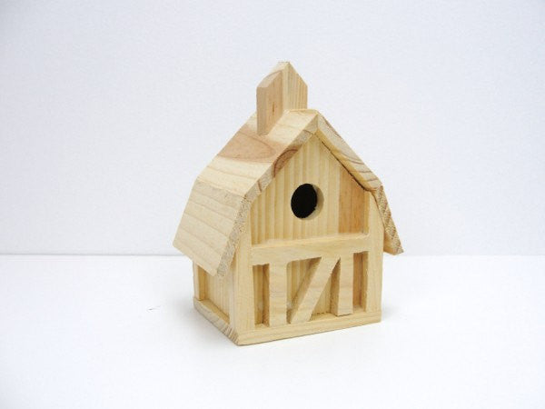 Mini barn birdhouse - Wood parts - Craft Supply House