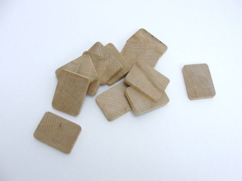 "Wooden rectangle 1 5/16"" x 1""  x 3/16"" thick set of 12 - Wood parts - Craft Supply House"