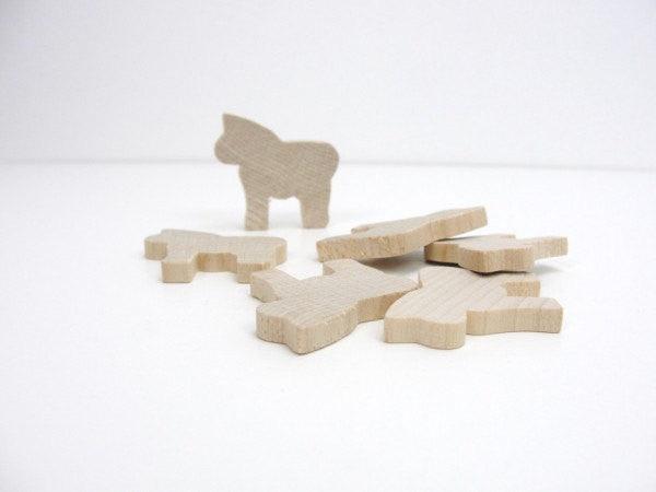Zebra cutout, horse cutout set of 6 - Wood parts - Craft Supply House
