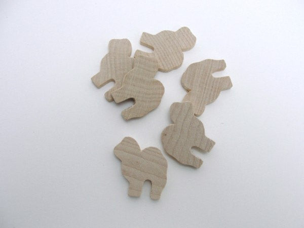 Camel cutout set of 6 - Wood parts - Craft Supply House