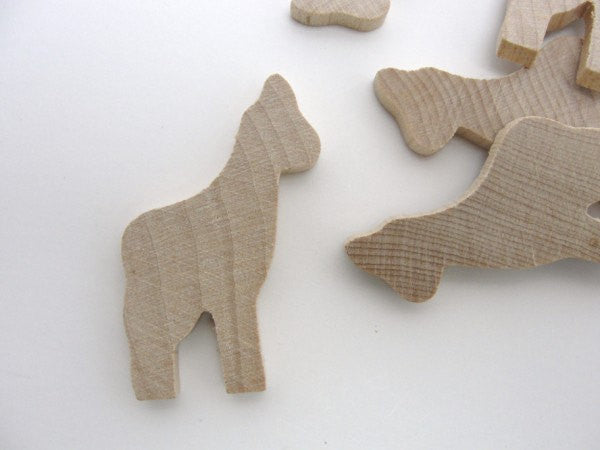 Giraffe cutout set of 6