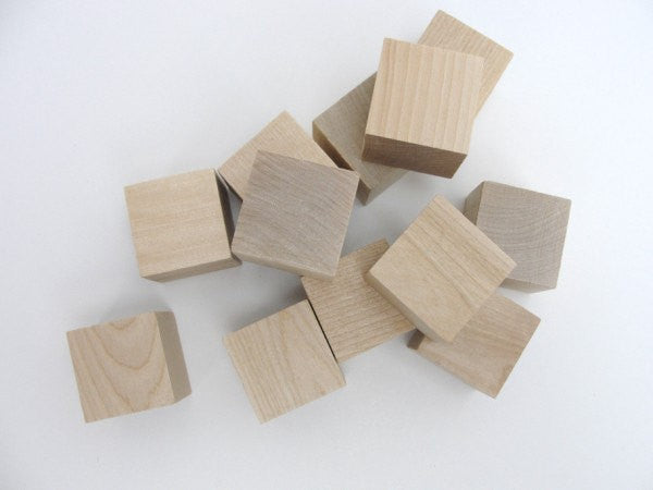 "1.5"" wooden block, 1 1/2 inch wood cube.  Choose your quantity - Wood parts - Craft Supply House"