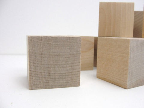"1.5""  wooden block,  1 1/2 inch wooden cube, wood block, unfinished wood cube - Wood parts - Craft Supply House"