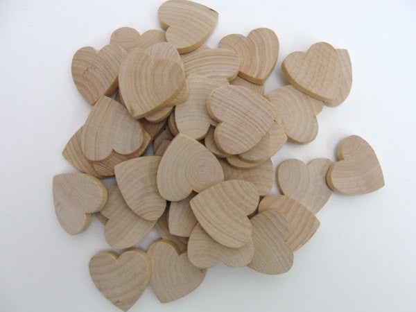 "Wooden hearts 1 1/2 inch (1.5"") wide 1/4 inch thick - Wood parts - Craft Supply House"