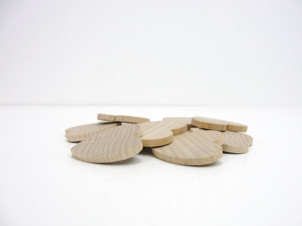 "Wooden hearts 1 1/4 inch (1.25"") wide 1/8 inch thick - Wood parts - Craft Supply House"