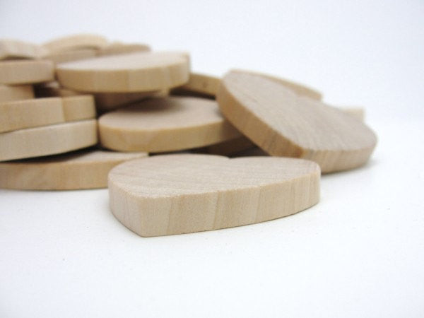 "Wooden hearts 1 3/4 inch wide 1/4 inch thick 1.75"" wood heart unfinished diy - Wood parts - Craft Supply House"