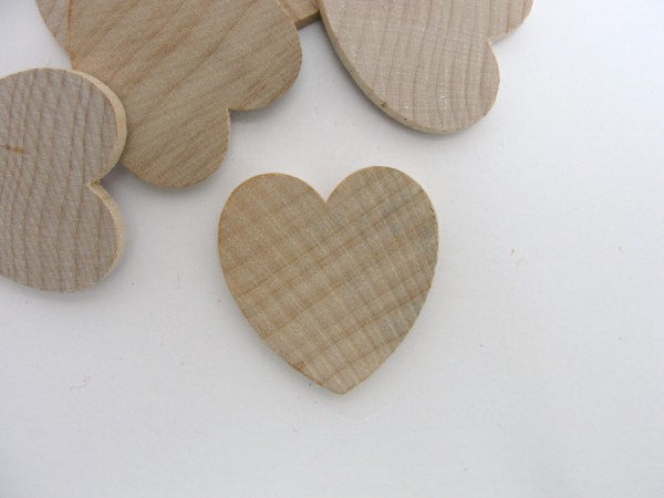 "Wooden hearts 1 1/4 inch (1.25"") wide 1/8 inch thick unfinished wood hearts diy - Wood parts - Craft Supply House"