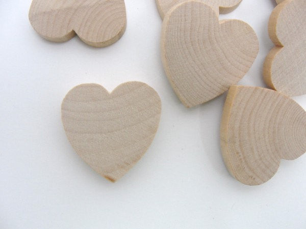 "Wooden hearts 1 1/4 inch (1.25"") wide 1/4 inch thick unfinished wood hearts diy - Wood parts - Craft Supply House"