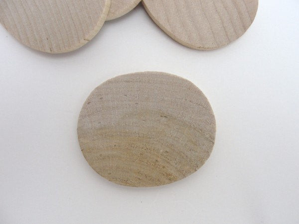 "Oval wooden disc 2 inch (2"") set of 6 - Wood parts - Craft Supply House"