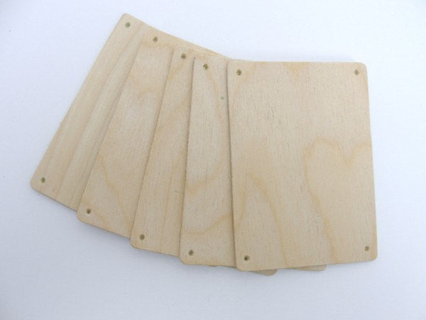 "Wooden rectangles 4 1/2"" x 3 1/4"" set of 5 - Wood parts - Craft Supply House"