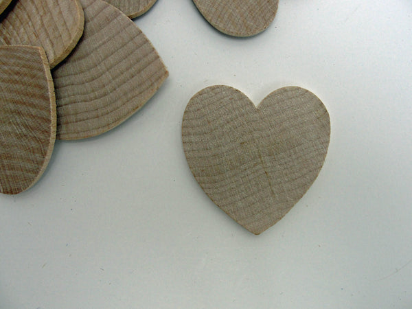 "Wooden hearts 1 3/4 inch (1.75"")  wide 1/8"" thick unfinished wood hearts diy - Wood parts - Craft Supply House"