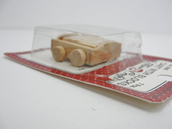 Miniature wagon with blocks, dollhouse toy wagon, DIY miniature - Wood parts - Craft Supply House