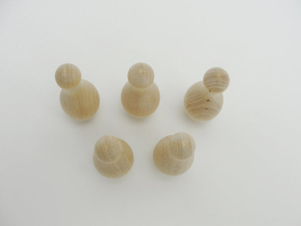 Miniature wooden bowling pins set of 5 - Wood parts - Craft Supply House