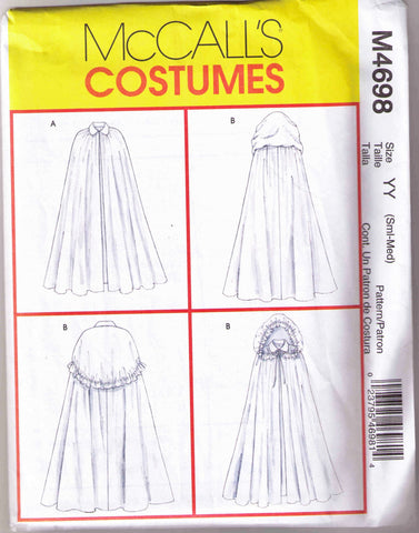 Cape pattern McCalls 4698 Adult sizes Small-Medium - Patterns - Craft Supply House