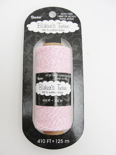 Pink and white baker's twine, 410 feet, 136 yards - General Crafts - Craft Supply House