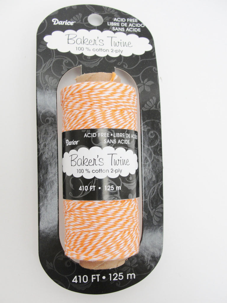 Orange and white baker's twine, 410 feet, 136 yards - General Crafts - Craft Supply House