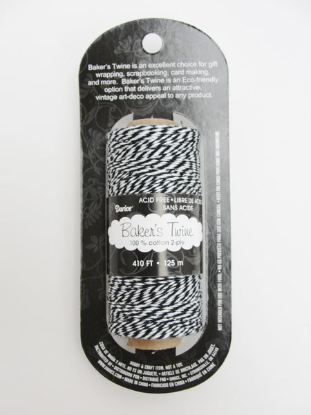 Black and white baker's twine, 410 feet, 136 yards - General Crafts - Craft Supply House