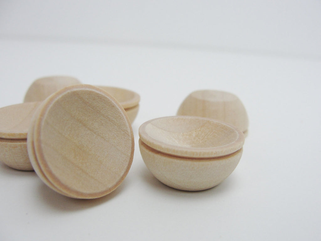 "Miniature bowl, 3/4"" dollhouse bowl (.75"") set of 6 - Wood parts - Craft Supply House"