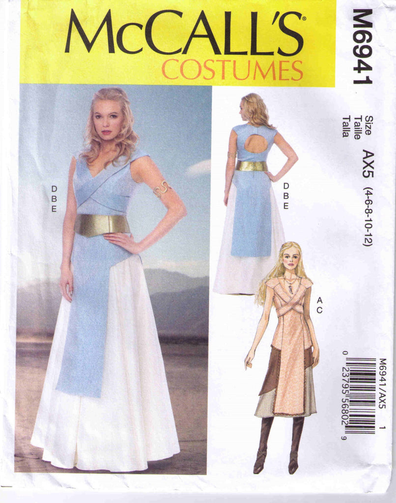 Greecian tabard, skirt, belt McCall's 6941 Adult sizes 4, 6, 8, 10, 12 - Patterns - Craft Supply House