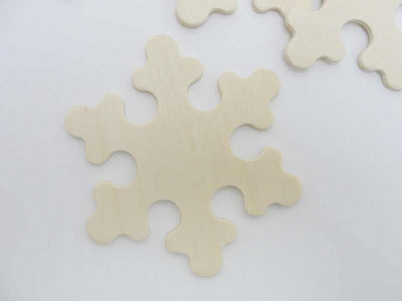 "Wooden snowflake 3"" set of 5 - Wood parts - Craft Supply House"