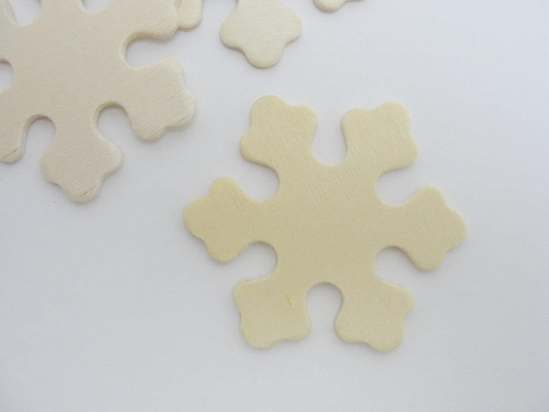 "Wooden snowflake small 2 3/8"" set of 5 - Wood parts - Craft Supply House"