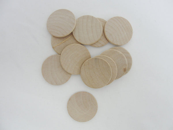"Wooden Circle discs 1.5"" x 1/8"" thick rounded edges - Wood parts - Craft Supply House"