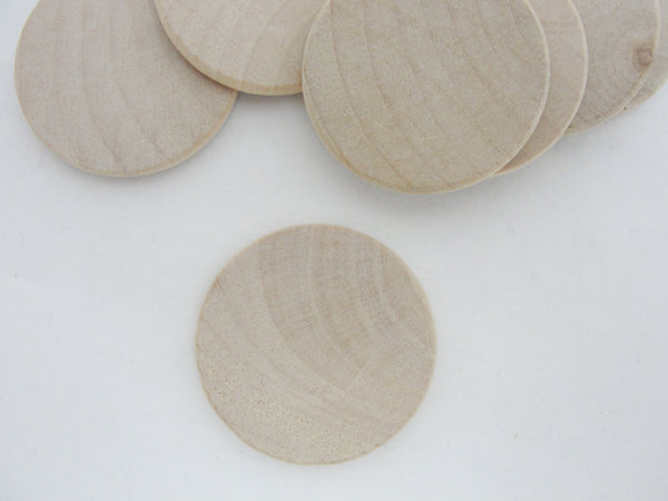 "Wooden Circle discs, 1 1/2"" wood disk (1.5"") 1/8"" thick unfinished DIY rounded edges - Wood parts - Craft Supply House"